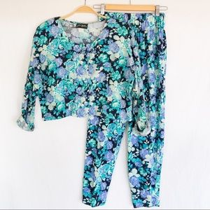 Vintage Floral 2-Piece | Pant & Top Set